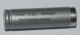 Rechargeable 14500 3.2v 400mAh ifr 14500 battery