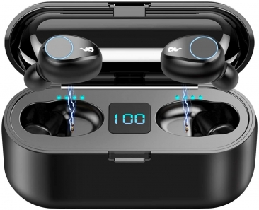 BCI Wireless Bluetooth 5.0 Earbuds, IPX7 Waterproof/Sweatproof Touch Headset
